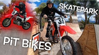 PIT BIKES TAKE OVER SKATEPARK! Dangerboy Injury Update