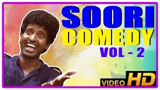 Soori Comedy Scenes | Soori Best Comedy Collection | Vol 2 | John Vijay | Jeeva | Udayanidhi