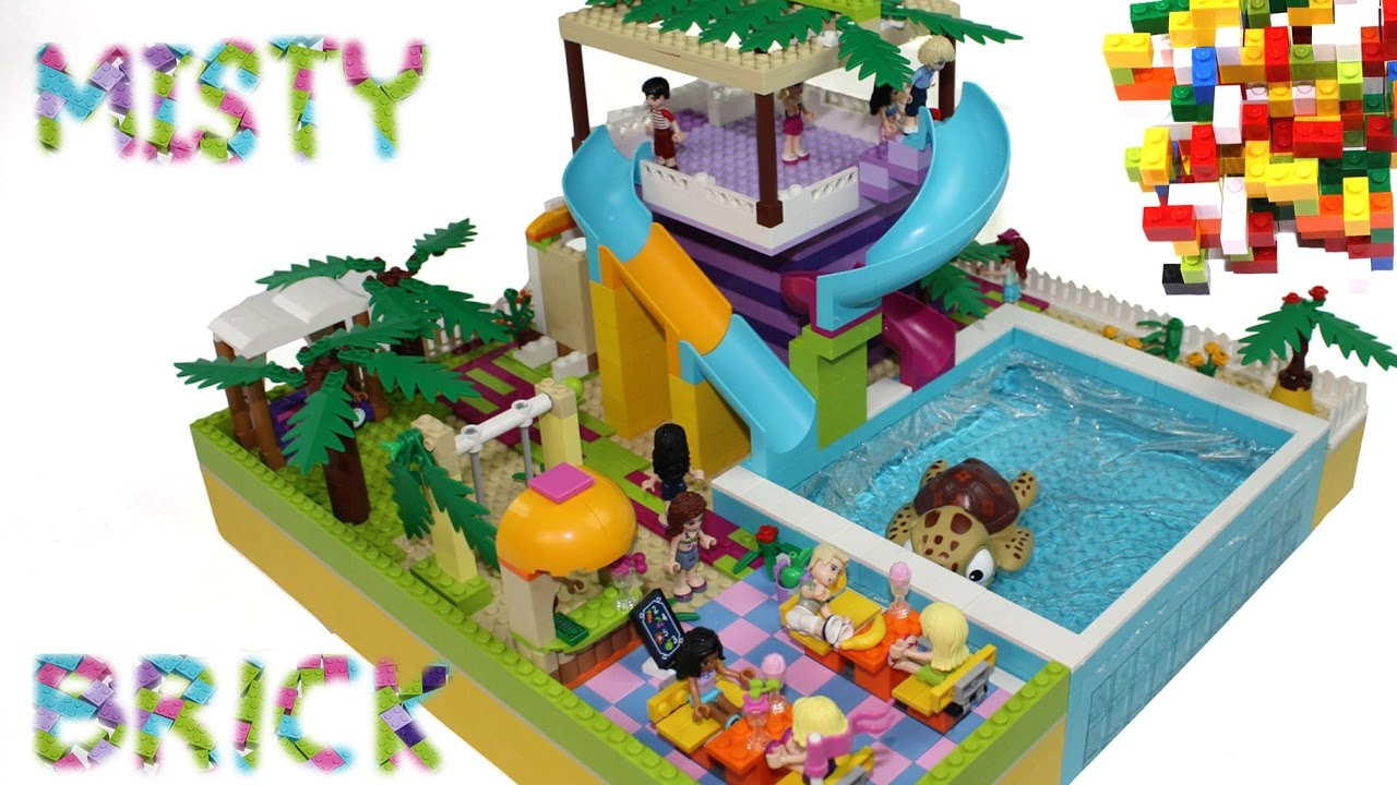 lego friends large swimming pool by misty brick youtube