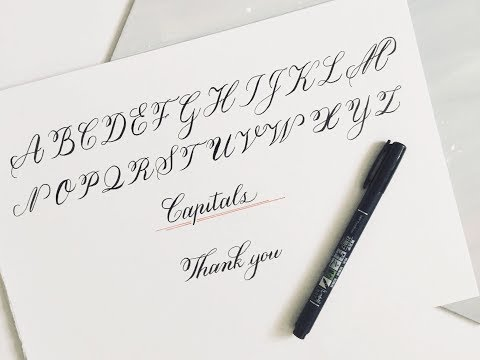 calligraphy for beginners | tombow calligraphy pen