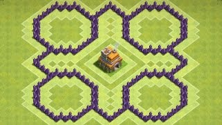 "CoC ""NEW"" Town hall 7 (TH7) Farming Base With 3 Air Defence"