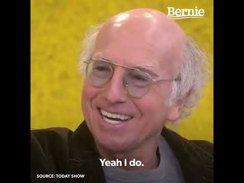 Bernie Bumps into Larry David on the Today Show