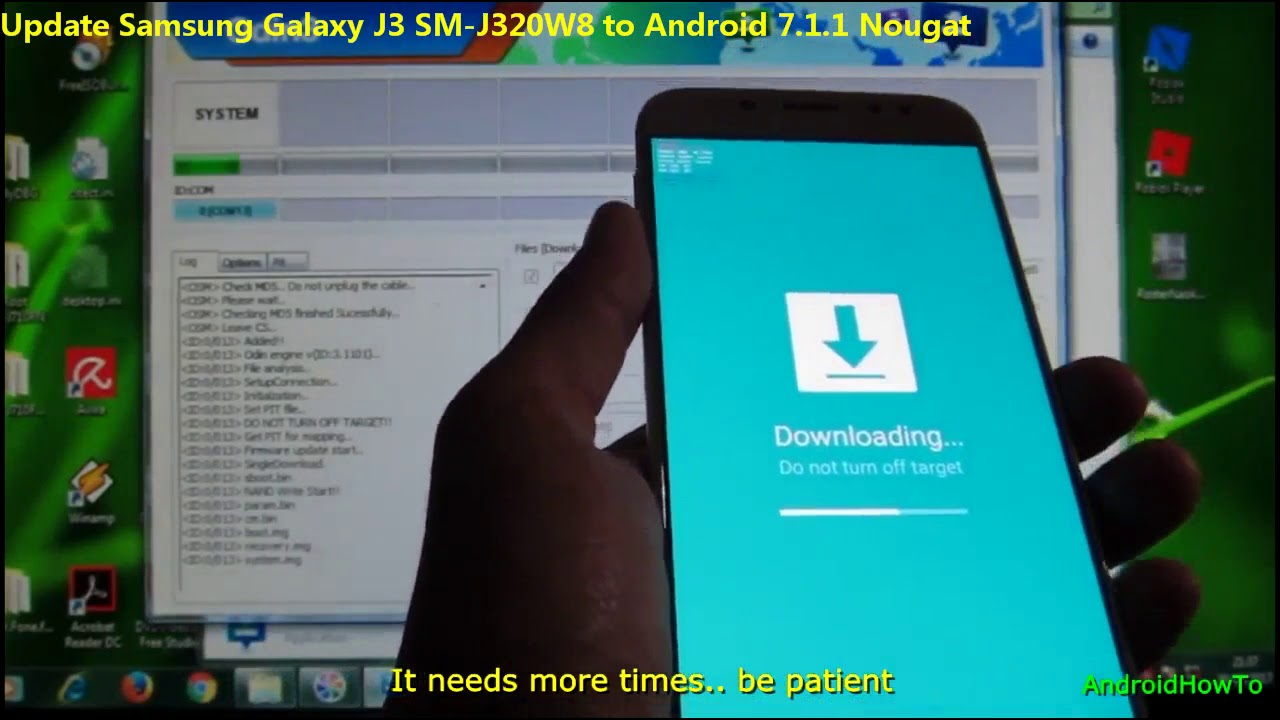Update Samsung Galaxy J3 SM-J320W8 to Android 7 1 1 Nougat