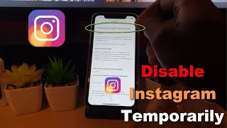 How to Temporarily Deactivate Instagram Account {2020}