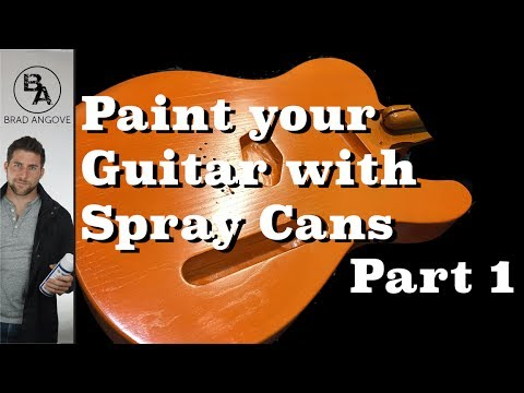 How to paint your guitar with spray cans (Part 1)