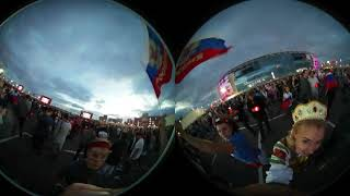 Фан-зона Москва. 360 VR. Матч Россия-Хорватия. 8