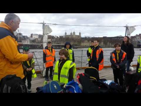 Cub Scout Investiture on HMS Belfast