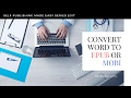 Converting Word To EPUB mp3