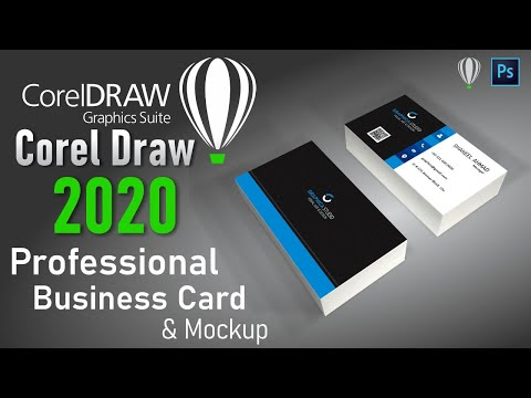 How to make professional visiting card in coreldraw 2020 with mockup  || اردو | हिंदी