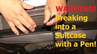 how to Open A Locked Suitcase With A Pen