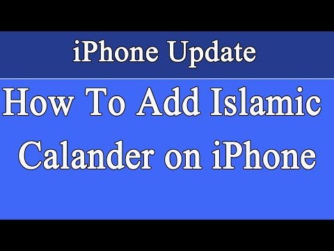 How To Add Islamic Calendar on iPhone Urdu | Hindi - YouTube