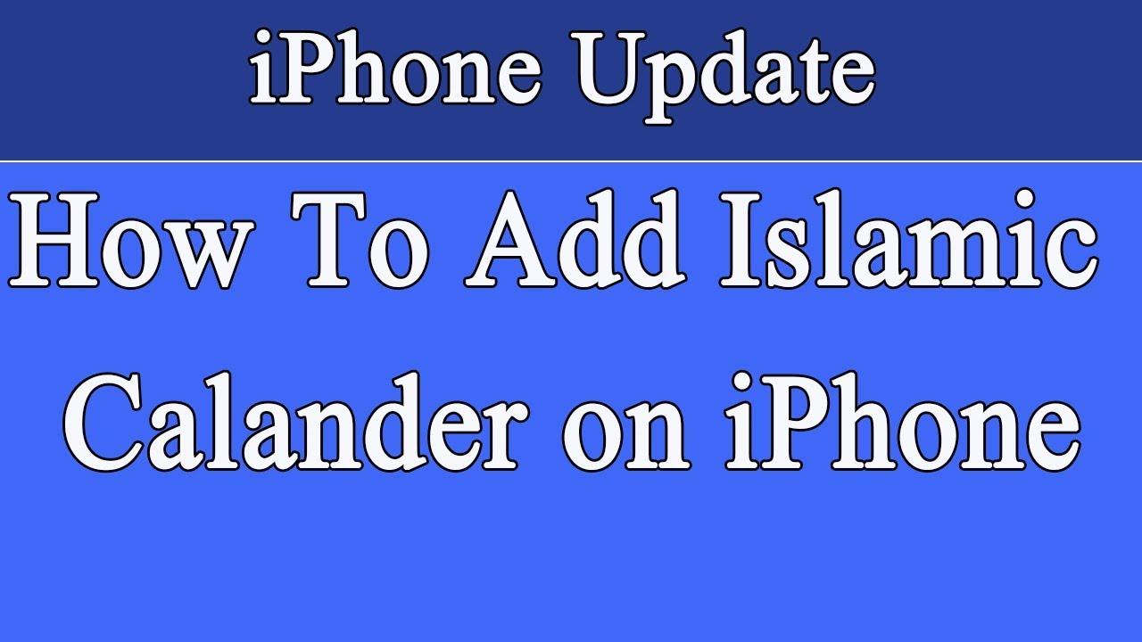 How To Add Islamic Calendar on iPhone Urdu | Hindi