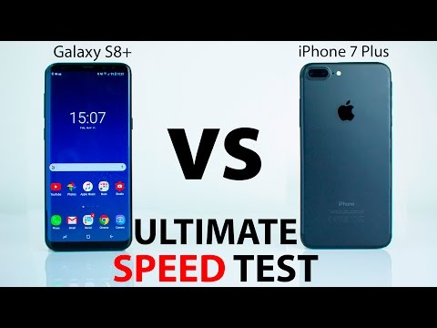 Samsung Galaxy S8 VS iPhone 7 Plus - The ULTIMATE SPEED Test!