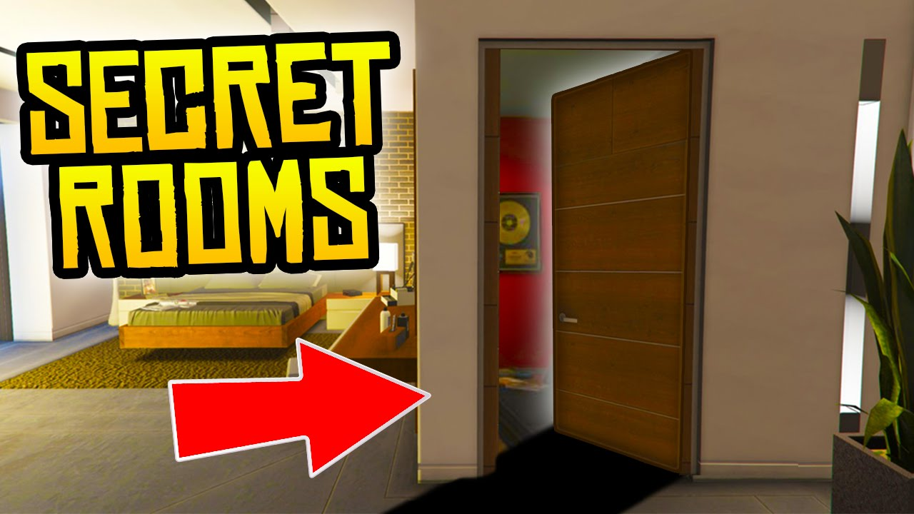 GTA 5  WHATS INSIDE THE SECRET ROOMS IN FRANKLINS HOUSE