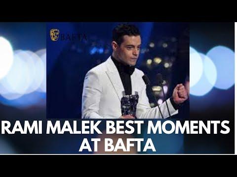 Rami Malek Best Actor BAFTA (2019 Unseen Video)  Rami Malek Best Moments BAFTA