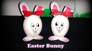 Eggshell Craft: Bunny Couple from eggshell. Easter Special. Creative art from waste.