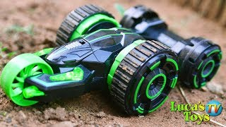 5 rounds stunt car double side RC car with 360 degrees spin