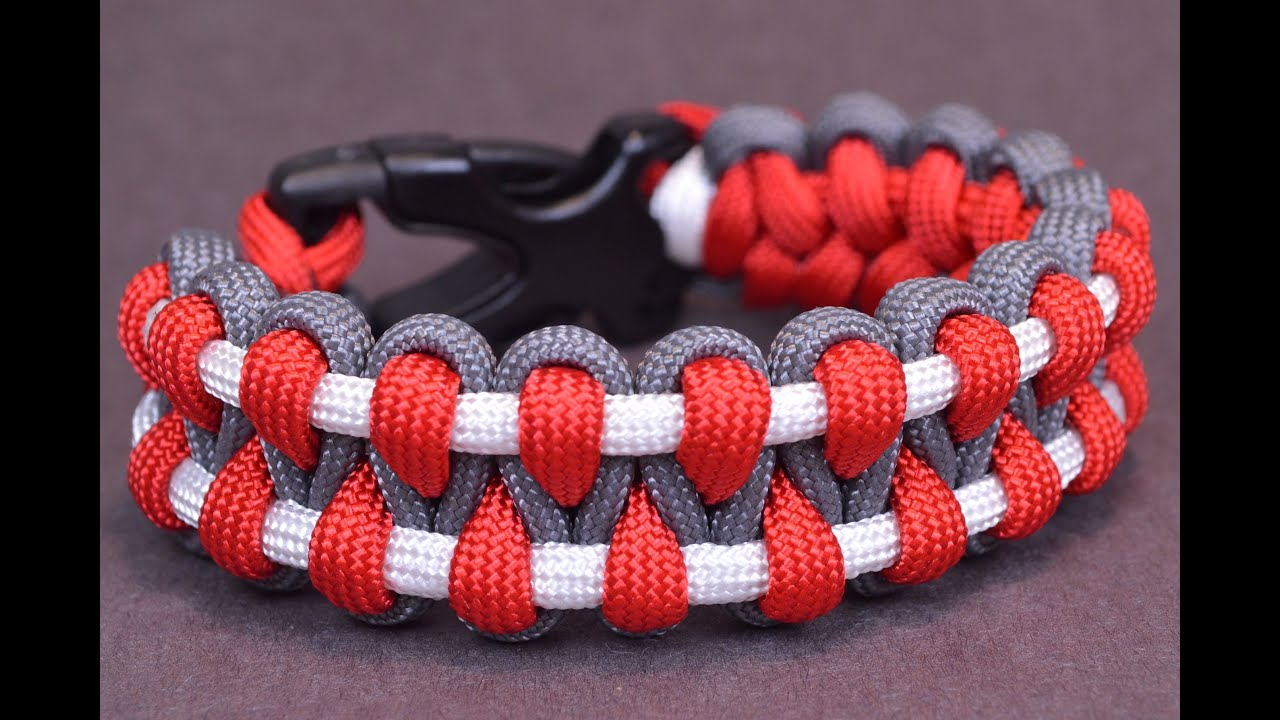 paracord solomon thin line microcord pin bar bracelet