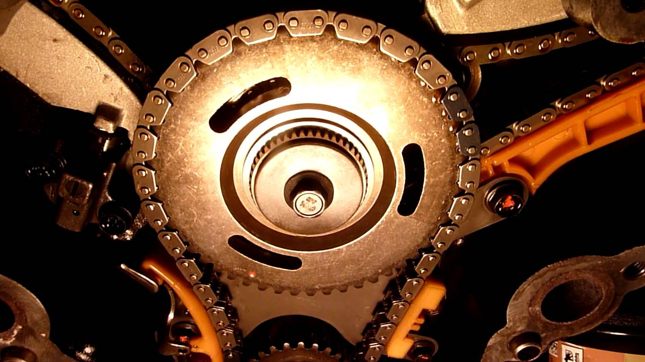 medium resolution of jeep 3 7 bad timing chain adjuster shown cranking with cover off youtube