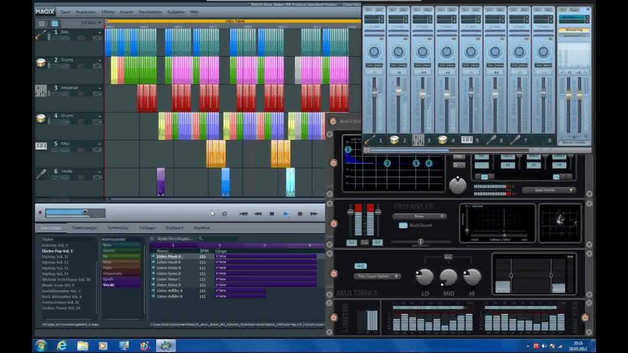 Magix music maker mx premium techno house track two for House music maker