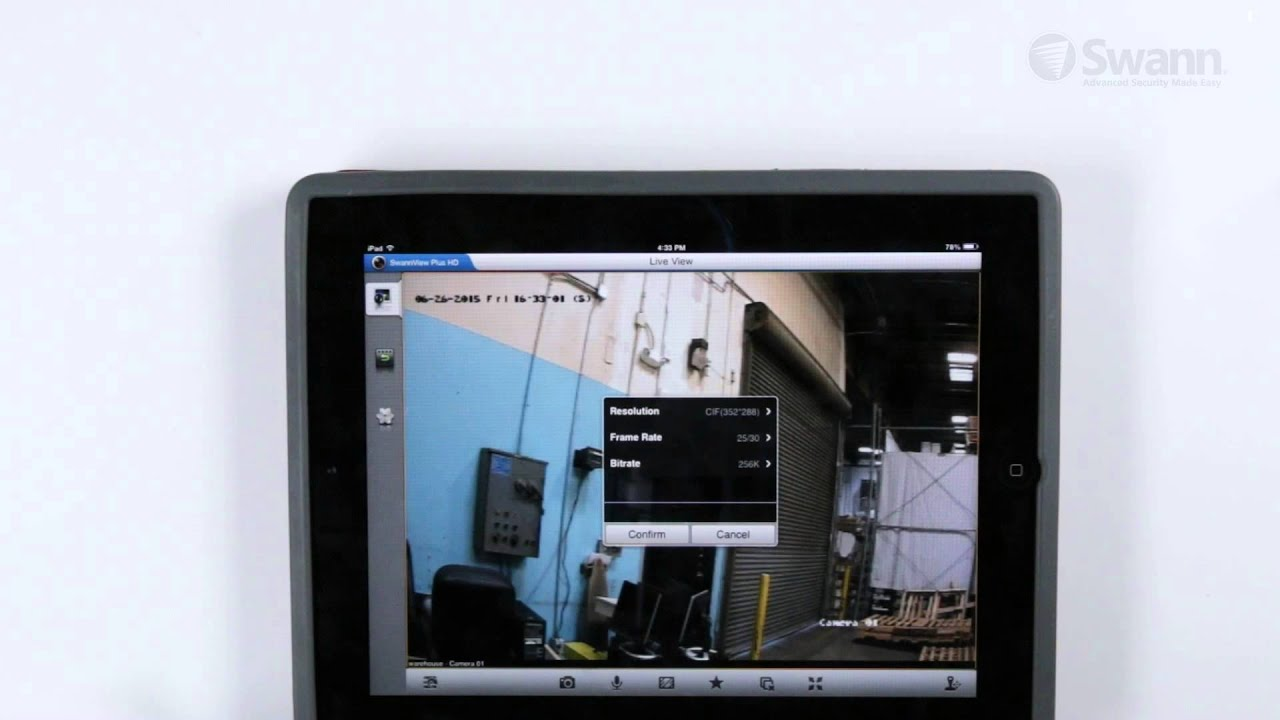 SwannView Plus HD App Setup for Tablets - User Guide