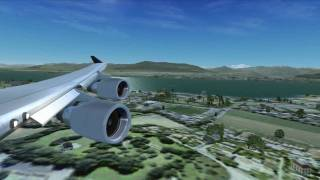 From Zürich to Geneva with FSX in HD