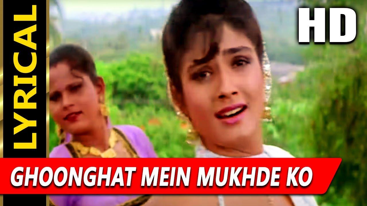 Download Ghoonghat Mein Mukhde Ko With Lyrics | Alka Yagnik, Udit Narayan | Vijeta Songs | Raveena Tandon