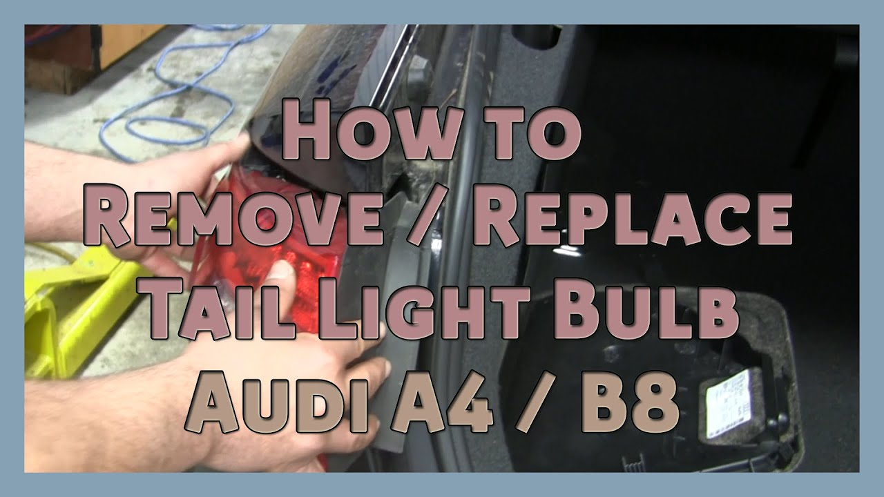 how to remove replace tail light bulb 2008 2014 audi. Black Bedroom Furniture Sets. Home Design Ideas