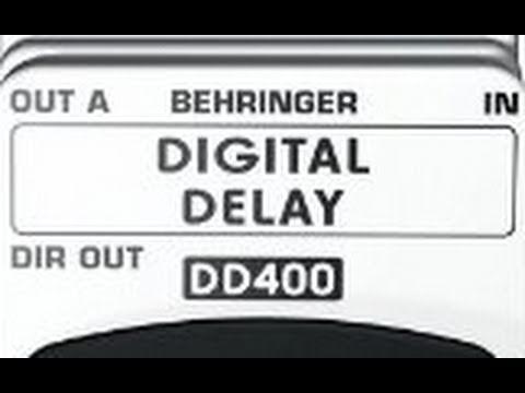 Behringer DD400 Digital Delay Pedal (Review/Demo)