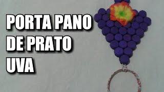 Porta pano de prato com formato de uva