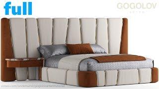 №142. bed modeling, рисование и моделирование мебели
