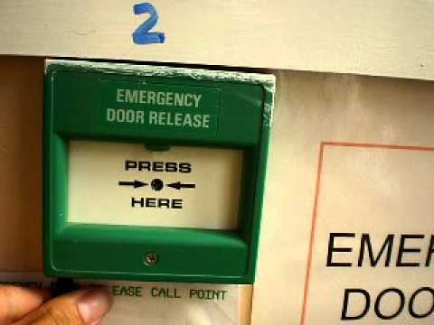 Emergency Door Release Test At School Youtube