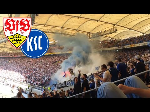 VFB Stuttgart vs. Karlsruher SC KSC - Derby Choreografie - Ausschreitungen der Ultras (Vollkontakt)