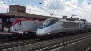 Amtrak HD 60fps: Northeast Regional & Acela Express Action @ Metropark 7/7/15 (Veterans Unit 642)