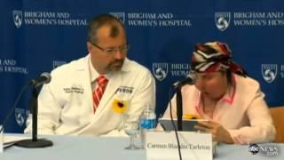 Carmen Blandin's Lye Attack Face Transplant ( Press Release )