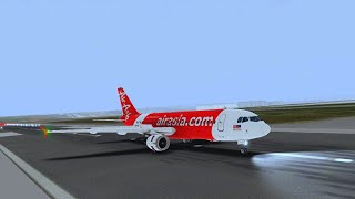 REAL FLIGHT SIMULATOR PRO - AIR ASIA INDIA A320 CSIA TO IGIA With ILS APPROACH LANDING