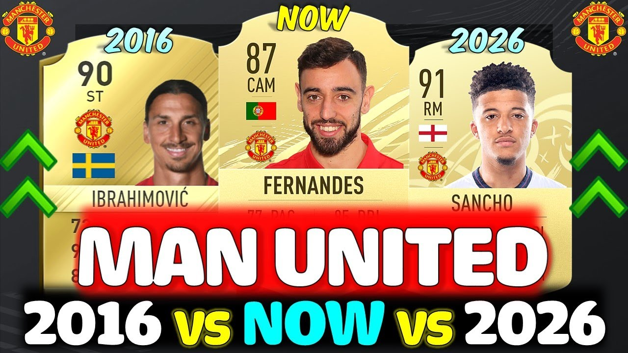 MANCHESTER UNITED 5 YEAR CHALLENGE!! FT. IBRAHIMOVIC, FERNANDES, SANCHO ETC... (FIFA IN 5 YEARS)