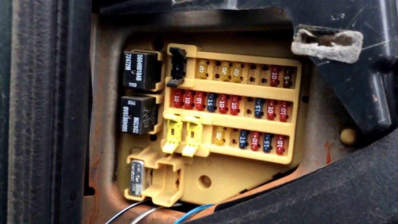 2002 dodge neon fuse box location