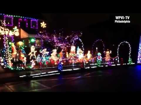 holiday lights at Guidone House - YouTube