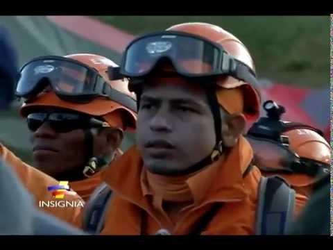 Impresionante simulacro de rescate del Batallón de atención y prevención de desastres