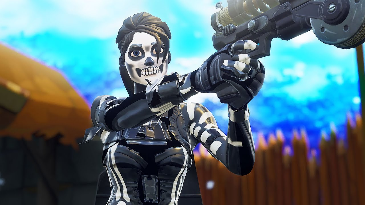 How To Get The Female Skull Trooper Skin In Fortnite Youtube