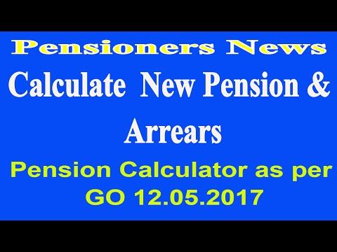 7th Pay Commission Pension & Arrears Calculator As Per Order Date 12.05.2017