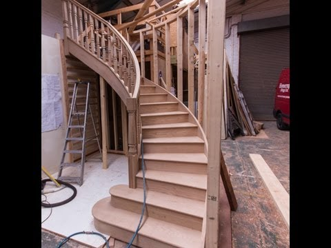 How to make the best designer oak curved staircase youtube for Arched staircase
