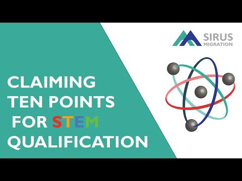 CLAIMING 10 POINTS FOR STEM QUALIFICATION
