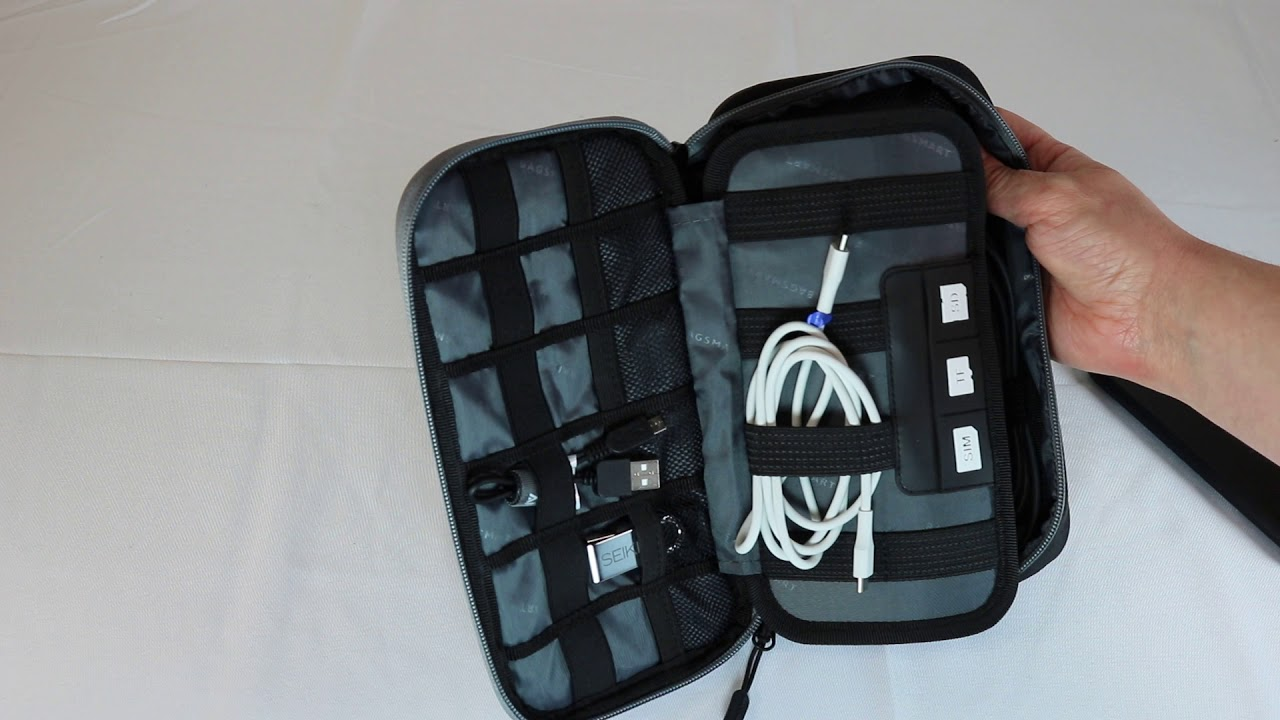 Review: BAGSMART Travel Electronic Accessories Thicken Cable Organizer Bag  Portable Case
