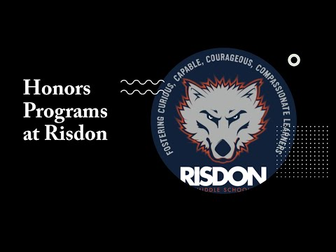 3.  Honors Programs at Risdon Middle School
