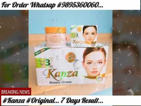 Kanza Beauty Cream... Original... 7 Days Result... - YouTube