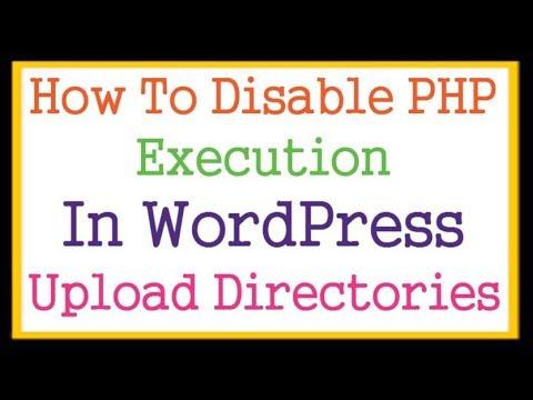 Kill PHP Script Execution In WordPress Upload Directory Via .htaccess Files