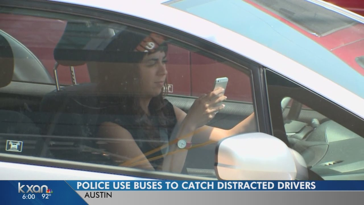 Bus hauling police around Austin seeking distracted drivers