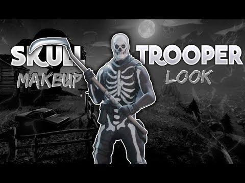 Fortnite Skull Trooper Halloween Makeup Look Tutorial Ghost Skull